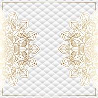 Fond élégant avec un design de mandala en or vecteur