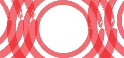 fond de cercles géométriques modernes ou bannière vecteur