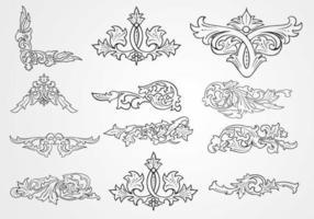 Vecteurs décorés floraux décoratifs décoratifs