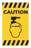Méfiez-vous des symboles de danger aérien isoler sur fond blanc vecteur