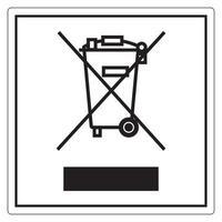 aucun signe de symbole de déchets vecteur