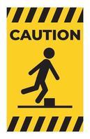attention, méfiez-vous du symbole des obstacles vecteur