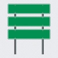 panneau de signalisation vert, panneaux de signalisation routière vecteur