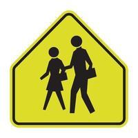 signe de la zone scolaire sur fond blanc vecteur