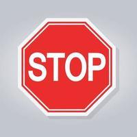 panneau d'arrêt rouge vecteur