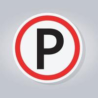 panneau de signalisation de stationnement vecteur