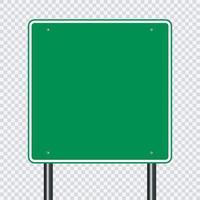 panneau routier vert vecteur