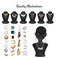 accessoires de bijoux de vecteur