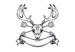 Illustration de crâne de cerf vecteur