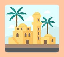 Maisons arabes vecteur