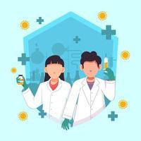 vaccin pour le concept covid-19 vecteur