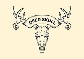 Cerf Skull Witih Ruban vecteur