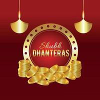 joyeux festival de diwali avec célébration de bougies vecteur