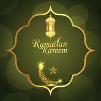 fond de célébration du festival islamique ramadan kareem vecteur