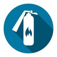 icône de sécurité icône d'extincteur à grandissime noir, illustration de style design simple. vecteur