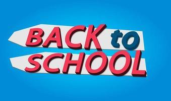 conception retour à l & # 39; école banner.logo.icon.vector illustration vecteur