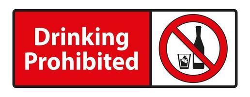 boire interdit, aucun signe d'alcool isolé sur fond blanc vecteur