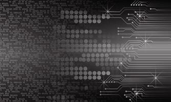 fond de concept de technologie future cyber circuit vecteur