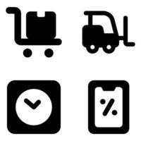 livraison logistique et expédition vecteur