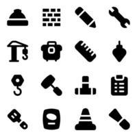 main-d'œuvre et outils vecteur