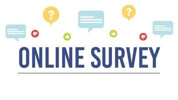 couverture de l'enquête en ligne vecteur