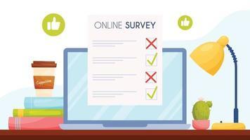 conception de sondages en ligne vecteur