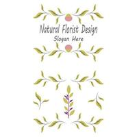 conception de vecteur de fleur botanique fleuriste de beauté