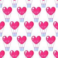 modèle sans couture de ballon coeur pour le mariage ou la Saint-Valentin. vecteur