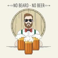 emblème de pub de bière hipster vecteur