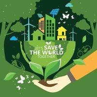 écologie et conservation de l'environnement conception de concept idée créative vecteur