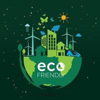 écologie et conservation de l'environnement conception de concept d'idée créative vecteur