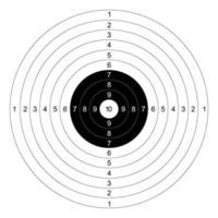 vecteur de cibles de papier de tir au pistolet avec fond blanc