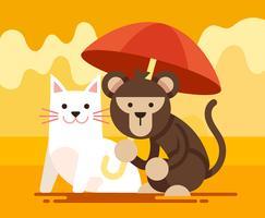 animal amis illustration vecteur
