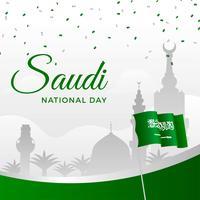 Modèle de la fête nationale saoudienne vecteur