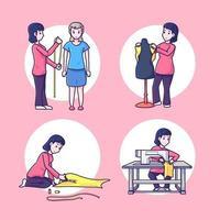 illustration du tailleur féminin vecteur