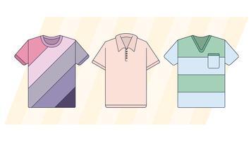 T-shirts vecteur
