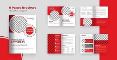 Brochure de 8 pages sur le profil de l'entreprise vecteur