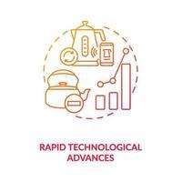 icône de concept de progrès technologique rapide vecteur