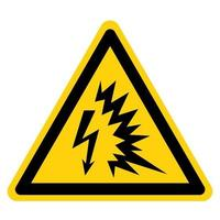 signe de symbole arc flash vecteur