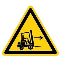 signe de symbole droit de point de chariot élévateur vecteur