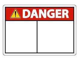 étiquette de signe de danger symbole sur fond blanc vecteur