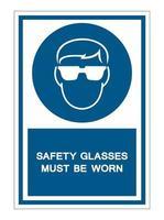 des lunettes de sécurité doivent être portées symbole signe vecteur