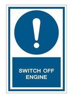symbole éteindre le moteur vecteur