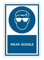 porter un signe de symbole de lunettes vecteur