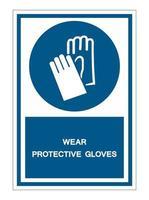 porter des gants de protection symbole signe vecteur