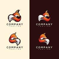 création de logo abstrait renard coloré vecteur