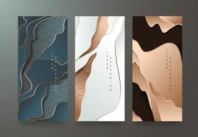modèles d'emballage de style japonais pour produits de luxe ou premium. vecteur