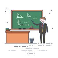 Vecteur de professeur de maths