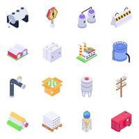 produits en béton et électronique vecteur