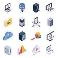 banque de données et analyse de données vecteur